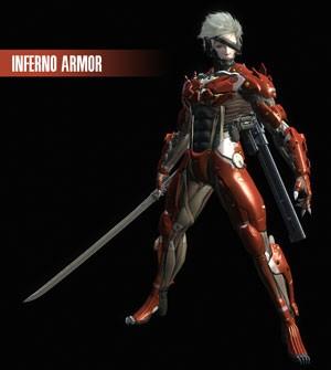 Armadura vermelha de Raiden que está na edição especial do game (Foto: Divulgação)