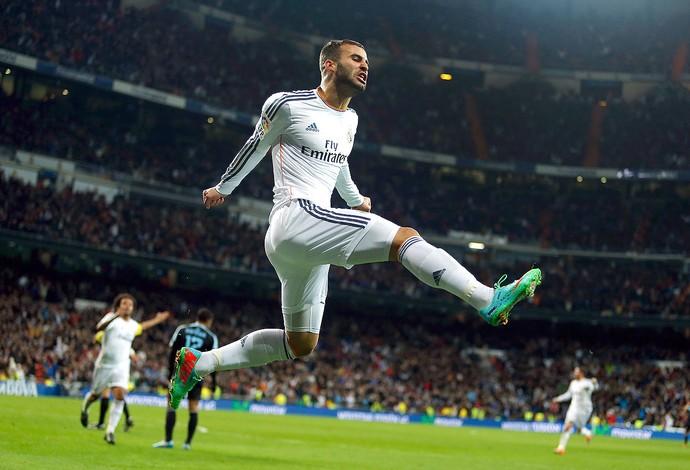 Jese Rodriguez comemoração Real Madrid contra Celta (Foto: AP)