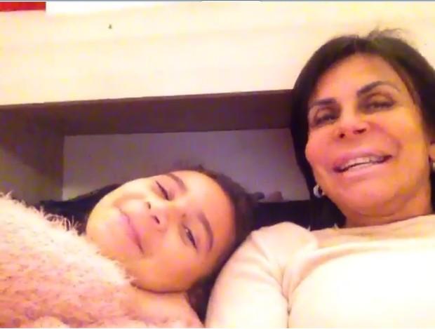 Gretchen com a filha Valentina Miranda  (Foto: Reprodução/YouTube)