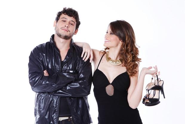 Talita Tilieri e Guilherme Dell Orto posam para as lentes do Caldeirão (Foto: Caldeirão do Huck/ TV Globo)