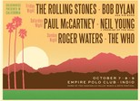 Stones, Neil Young, McCartney, Who, Dylan e Roger Waters irão a festival