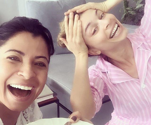 A atriz considera Grazi Massafera sua amiga-irmã (Foto: Arquivo pessoal)
