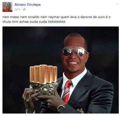 """Aloísio Chulapa, vencedor do prêmio """"Danone de Ouro"""" (Foto: Reprodução/Facebook)"""