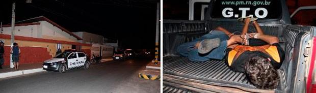 Polícia evitou sequestro relâmpago e prendeu dois suspeitos em Mossoró (Foto: Gilli Maia)