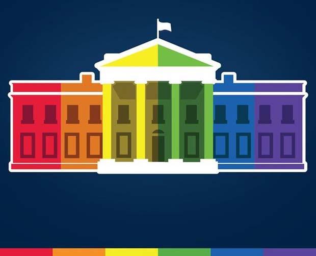 Casa Branca posta desenho com as cores da bandeira gay após Suprema Corte dos EUA legalizar casamento entre pessoas do mesmo sexo nacionalmente (Foto: Reprodução/ Facebook/ White House)