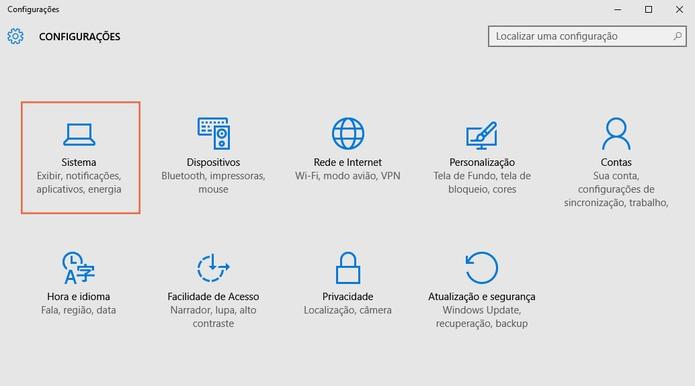 Nas configurações acesse o menu de sistema (Foto: Reprodução/Barbara Mannara)