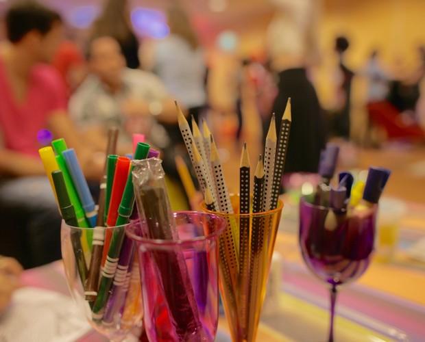 Material utilizado nas atividades (Foto: Gshow)