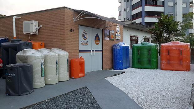 Loja física da Casa da Cisterna em Joinville-SC. Atende todo Brasil (Foto: Raquel Schiavini Schwarz)