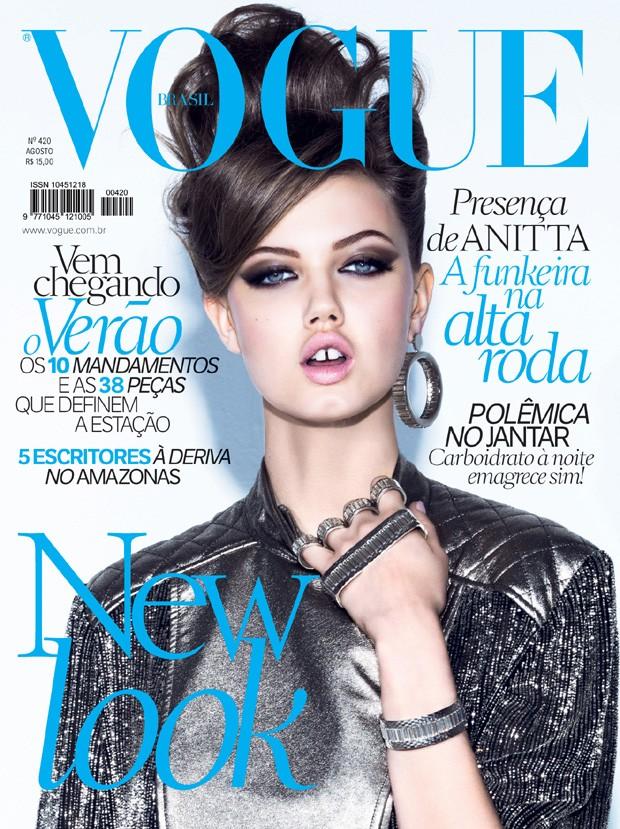 Lindsey Wixson na Vogue Brasil (Foto: Arquivo Vogue)