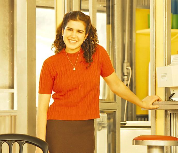 Karina Baerum, há 18 anos, como Shirley de 'Torre de Babel' (Foto: CEDOC / TV Globo)