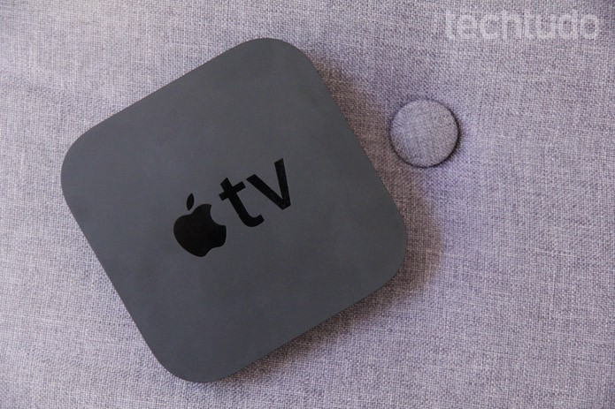 Nova versão da Apple TV deve vir com controle com touchpad (Foto:  Luciana Maline/TechTudo) (Foto: Nova versão da Apple TV deve vir com controle com touchpad (Foto:  Luciana Maline/TechTudo))