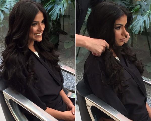 O novo corte de cabelo de Munik (Foto: Divulgação)