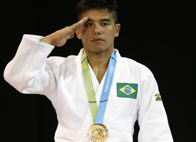 Charles Chibana judô militar Pan (Foto: AP Photo/Julio Cortez)