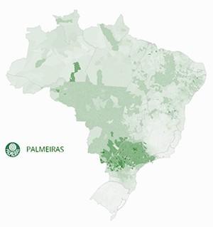 Mapa Palmeiras (Foto: GloboEsporte.com)