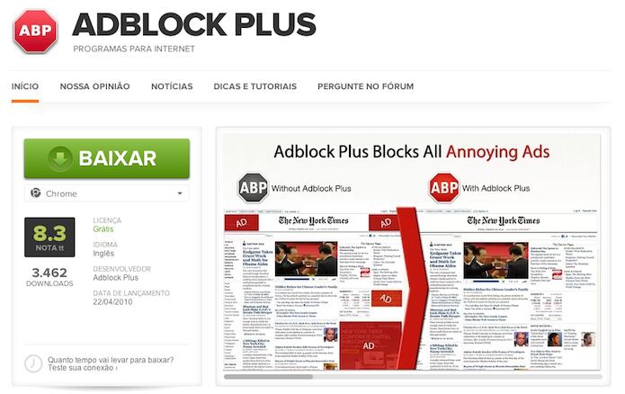Instalando o Adblock Plus  (Foto: Reprodução/Helito Bijora)