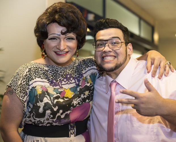 Deena Love e Lui Medeiros, que duelaram juntos (Foto: Camila Serejo/Gshow)