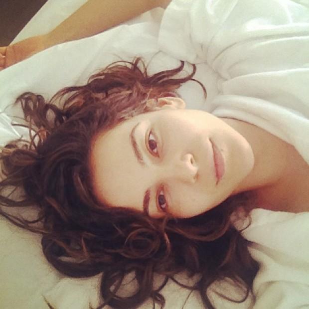 Taina Müller sem maquiagem (Foto: Reprodução)