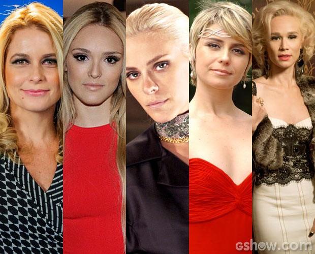 As atrizes clarearam os cabelos para fazer personagens.