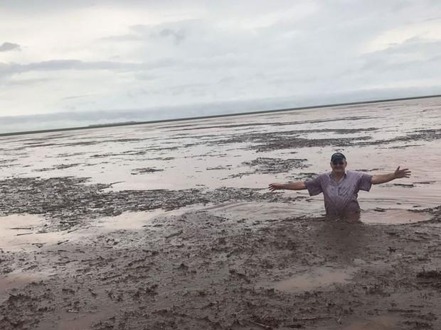 Aproximadamente 400 hectares, entre diferentes fazendas, foram atingidos pela chuva (Foto: Giovana Velke/Sindicato Rural de Campo Novo do Parecis)