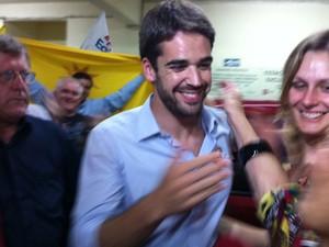 'Quero ser um prefeito amigo', disse Eduardo Leite (PSDB), eleito em Pelotas com 57,15% dos votos válidos (Foto: Felipe Truda/G1)