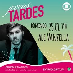 Ale Vanzella faz show gratuito no Quiosque da Globo, em Copacabana, no domingo,dia 25, a partir das 18h. (Foto: Globo)