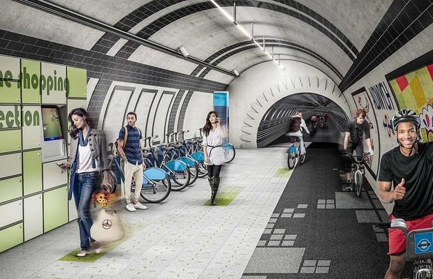 Projeto transforma linhas aposentadas de metrô em ciclovia