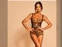 Luiza Brunet posta foto com lingerie de oncinha