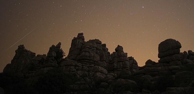 Chuva de meteoros (Foto: Jon Nazca/Reuters)