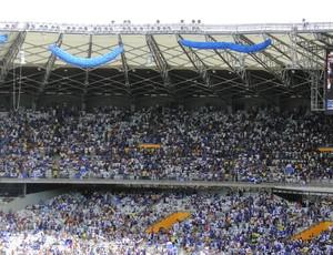 torcida do Cruzeiro no Mineirão clássico (Foto: Leonardo Simonini)