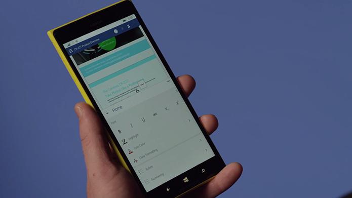 Word para Windows 10 ganhará interface Ribbon também nos smartphones (Foto: Reprodução/Microsoft)