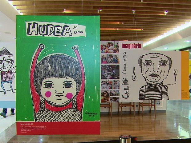Desenhos feitos por pernambucana de 10 anos foram inspirados em cenas reais dos refugiados sírios (Foto: Reprodução/TV Globo)