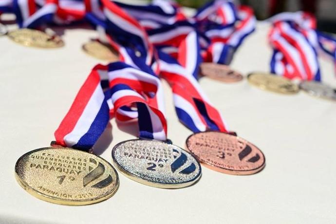 Medalhas dos Jogos Sul-Americanos Escolares no Paraguai (Foto: Divulgação/SND)