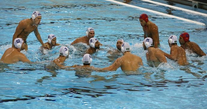 A seleção brasileira durante partida contra o Canadá nesta terça-feira, pelo Pan-Americano de Toronto (Foto: Satiro Sodre/SSPress)