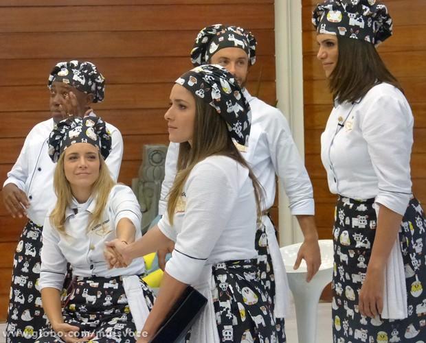 Monique Alfradique é a primeira eliminada do Super Chef (Foto: Mais Você/TV Globo)