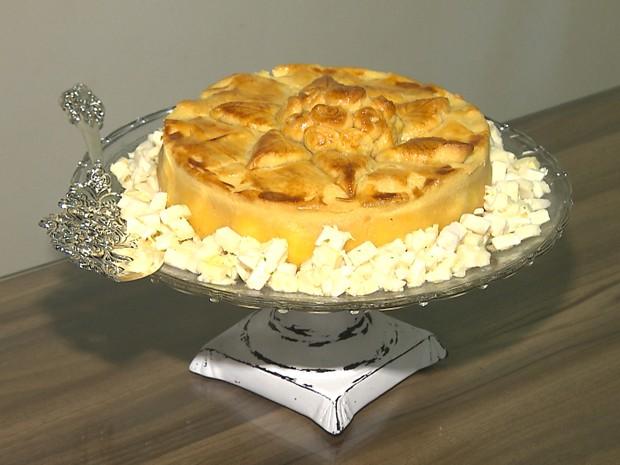 Torta de palmito é uma receita do chef campinense Leonardo Andrade (Foto: Reprodução/TV Cabo Branco)