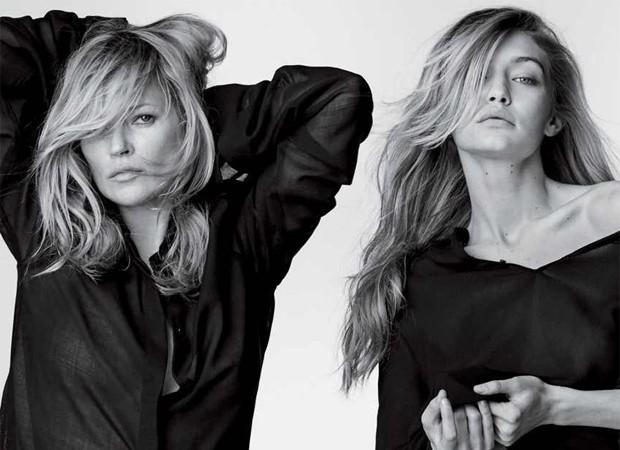 Kate Moss e Gigi Hadid (Foto: Reprodução/Stuart Weitzman)