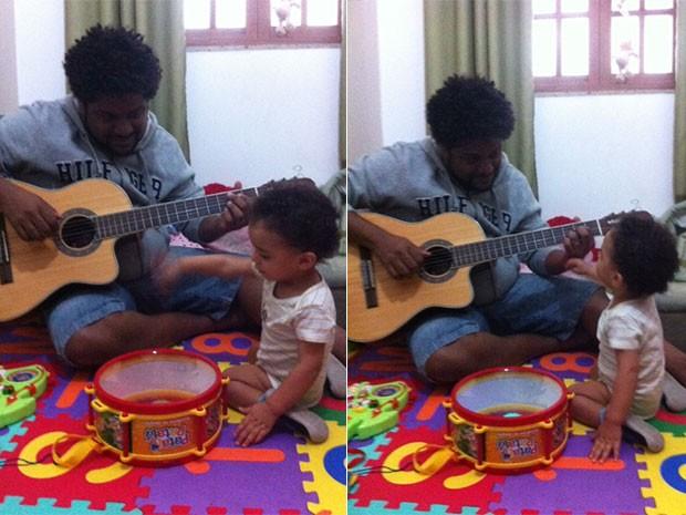 Marquinho O Socio com o filho (Foto: Divulgação)
