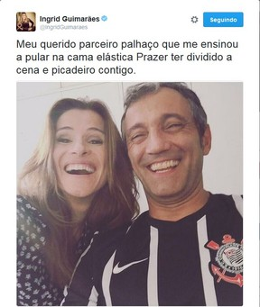 Ingrid Guimarães (Foto: Reprodução/Twitter)