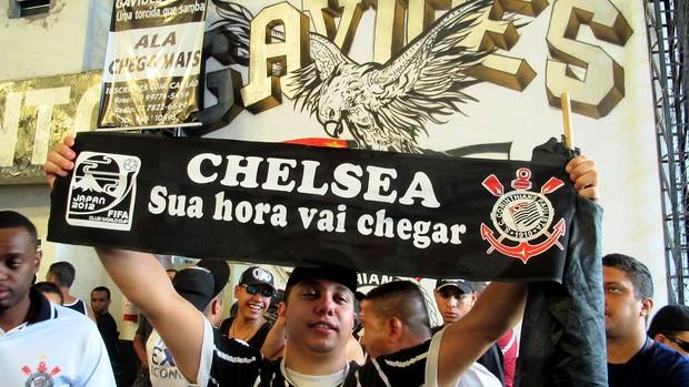 torcida Corinthians Gavião jogo Mundial (Foto: Daniel Romeu / Globoesporte.com)