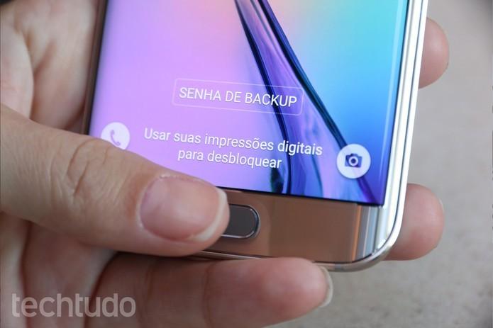 Leitor de impressões digitais do Galaxy S6 pode ser facilmente enganado (Foto: Lucas Mendes/TechTudo) (Foto: Leitor de impressões digitais do Galaxy S6 pode ser facilmente enganado (Foto: Lucas Mendes/TechTudo))