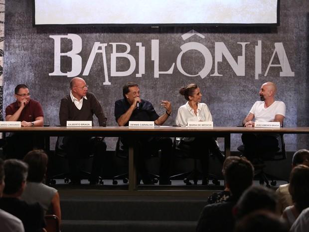 Autores e direção de Babilônia apresentam a nova novela das 9 (Foto: Carol Caminha / Gshow)