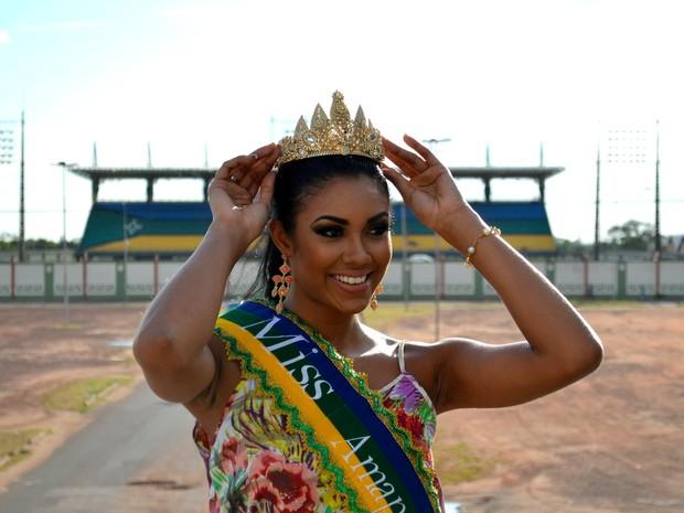 Miss Amapá 2014 concorreu com outras 15 candidatas (Foto: John Pacheco/G1)