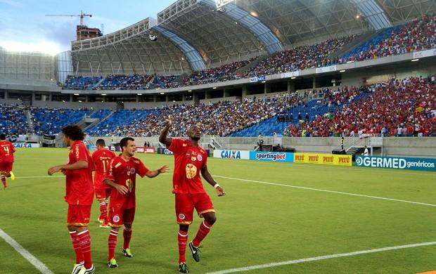 Adalberto América-RN gol Arena das Dunas (Foto: Augusto Gomes)
