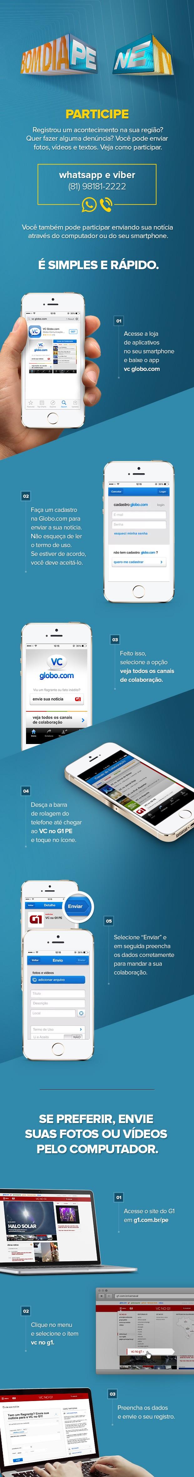 Whatsapp e VC no G1 -- Pernambuco (Foto: Arte / G1)