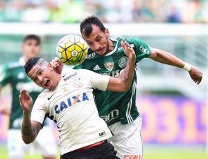 Luciano e Edu Dracena Palmeiras X Corinthians (Foto: Marcos Ribolli)
