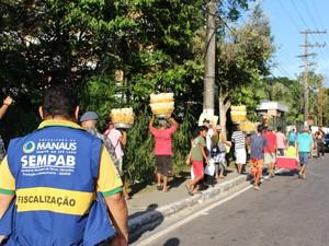 Fiscalização ocorreu durante jogo do Brasil e Camarões (Foto: Divulgação/ Sempab)