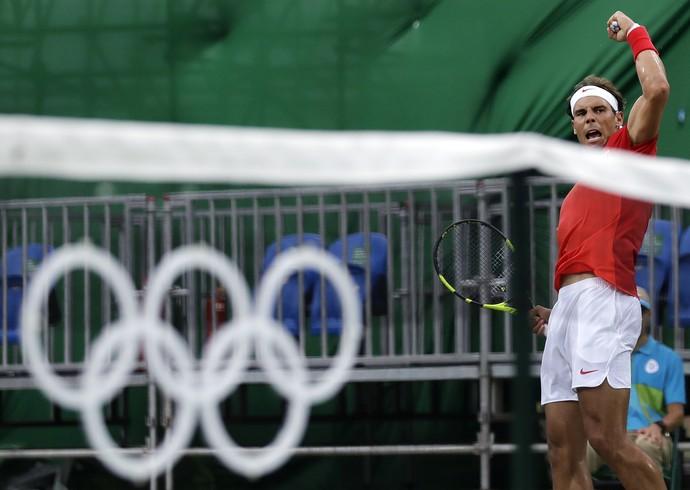 Rafael Nadal tênis olimpíada rio 2016 (Foto: AP Photo/Charles Krupa)