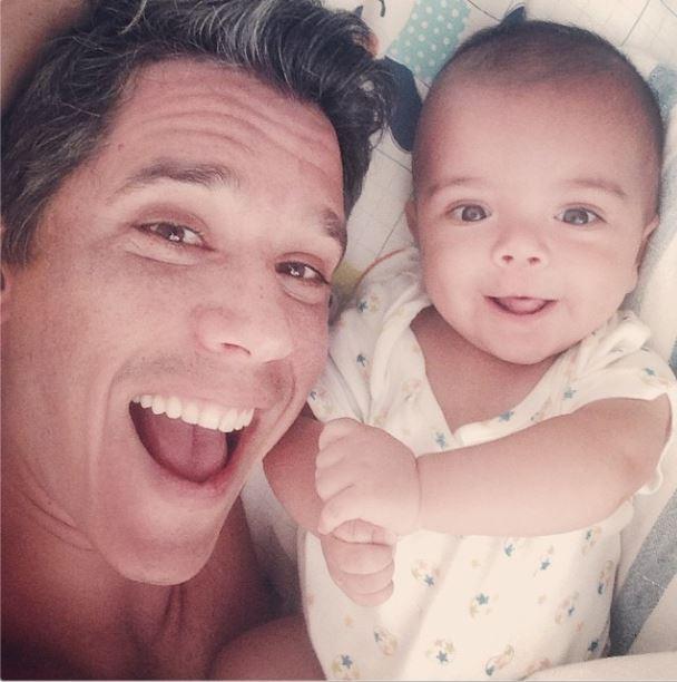 Marcio Garcia e o filho João (Foto: Reprodução/Instagram)