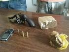 Dois homens são presos suspeitos de tráfico de drogas em Francisco Sá