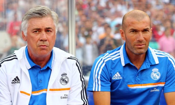 Ancelotti Zidane Real Madrid 2013 (Foto: Getty Images)